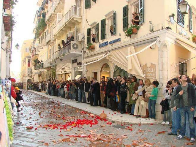 Traditional Orthodox Easter in Corfu, Greece