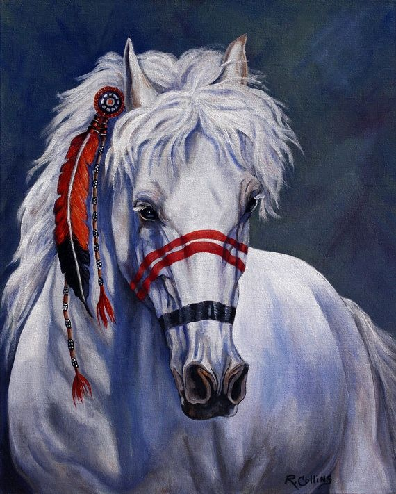 Pony of the Red Feather Clan by Rose Collins Fine Art_Etsy_$25.