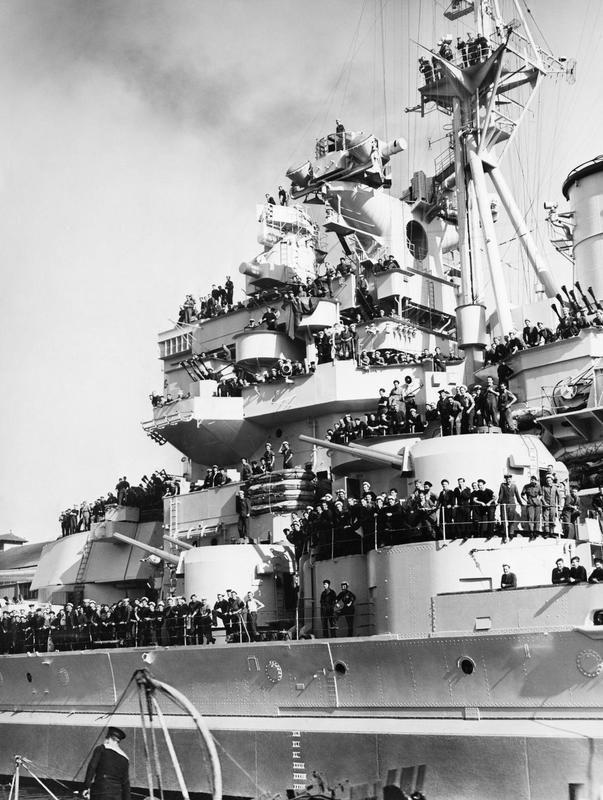 HMS Anson, in Sydney Harbour