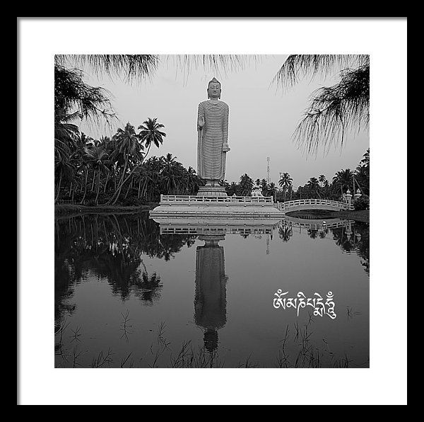 Om Mani Padme Hum Framed Print featuring the photograph Om Mani Padme Hum by Sandra Ramacher