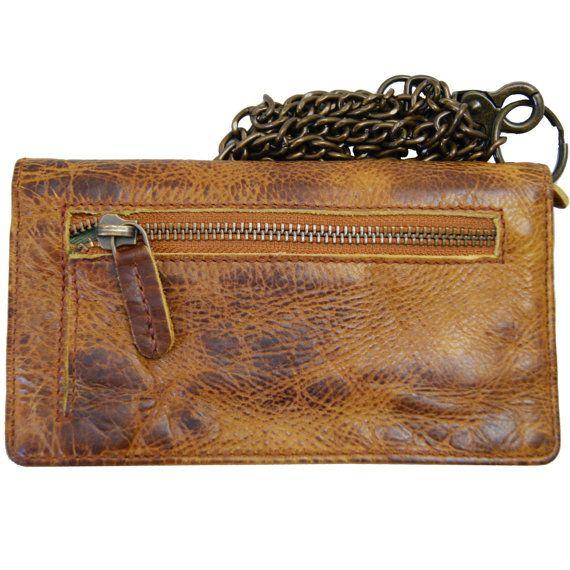 Men's wallet with chain CARNEGIE brown by Ledertaschenshop24