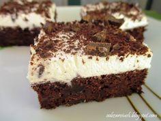 Pyszne ciasto czekoladowe na bazie kaszy jaglanej z bitą śmietaną w smaku przypominające wuzetkę
