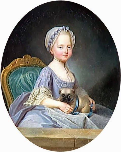 "Princesse Elisabeth de France (1764 - 1794), ""Madame Elisabeth"" Petite-Fille de France. / By Ducreux, 1768."
