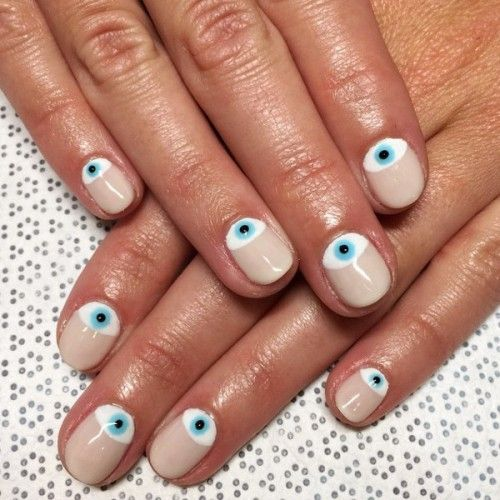 evil eye nails homepage - Best 25+ Evil Eye Nails Ideas On Pinterest Heart Nails