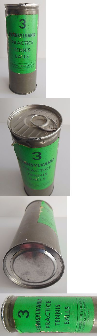 Balls 20870: Vintage Pennsylvania 3 Practice Tennis Ball Tin Can Unopened General Tire Rubber -> BUY IT NOW ONLY: $44.95 on eBay!