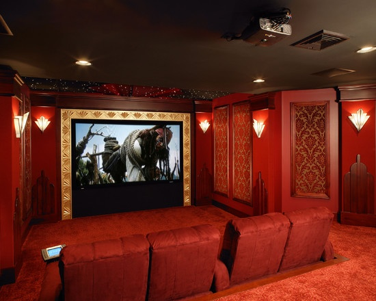 art deco home theater design - Diy Home Theater Design
