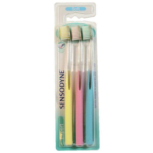 Sensodyne Expert Soft Toothbrush (3 Pack) for Sensitive Teeth