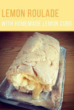 Lemon roulade with homemade lemon curd. Bakedtoimperfection.co.uk