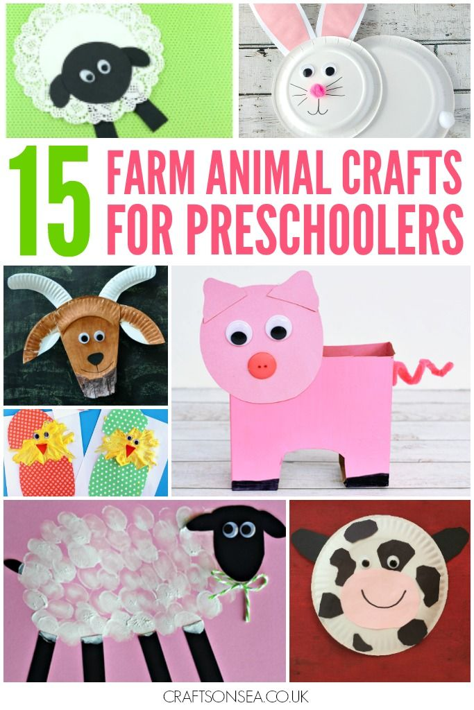 These farm animal crafts for preschoolers are all super easy to make and they look cute too! Cows, pigs, sheep, chickens, goats and more!