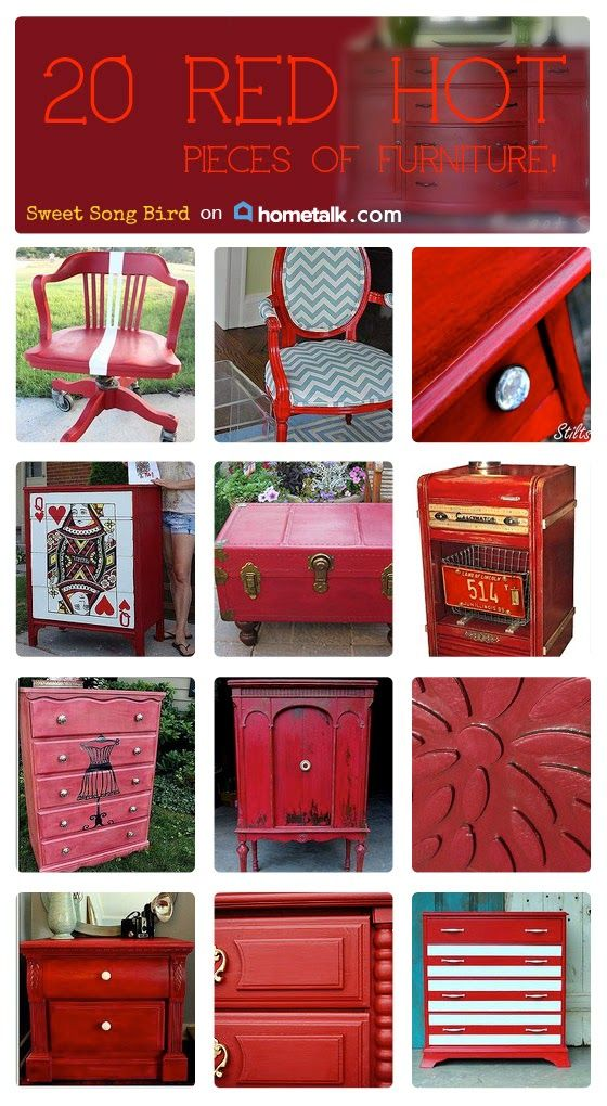 25 Best Ideas About Red Distressed Furniture On Pinterest