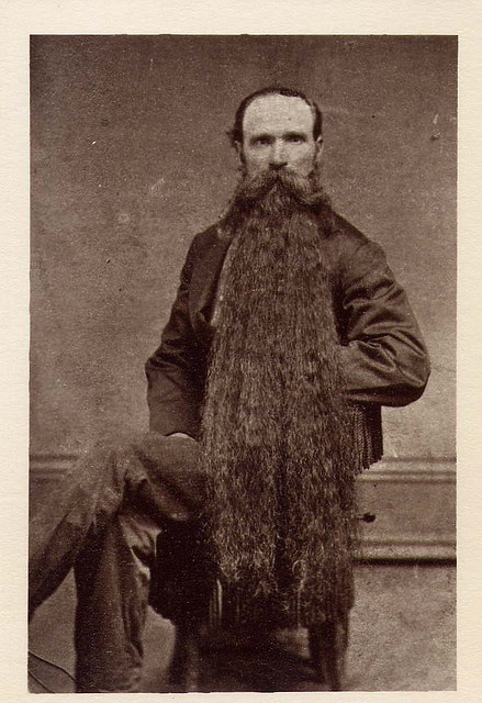 Date unknown. I suspect 1880's? This man is on my board exclusively for his fantastical facial hair.