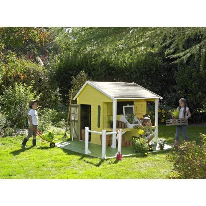 maison jeux ext rieur cerland maisonnette bois pour enfant ciboulette jeux ext rieurs. Black Bedroom Furniture Sets. Home Design Ideas