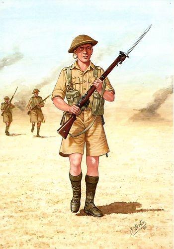 Scots Guards - Guardsman in Western Desert in 1942