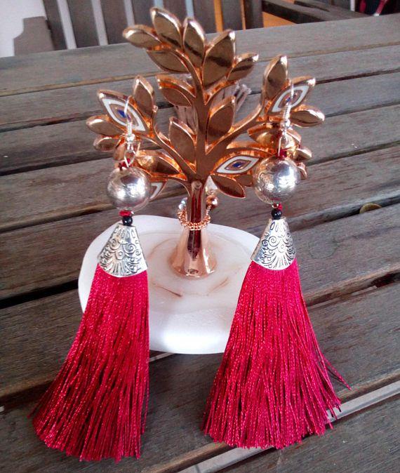 Folklore Romance trendy earrings with long tassels in