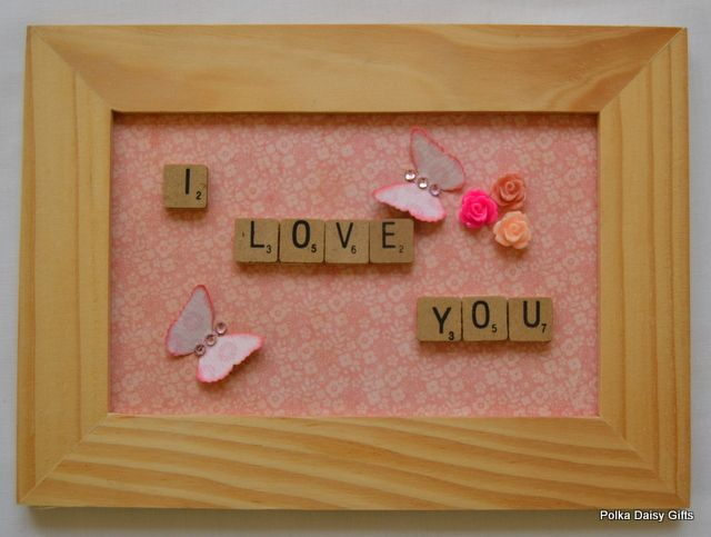 I Love You Scrabble Frame - The Supermums Craft Fair