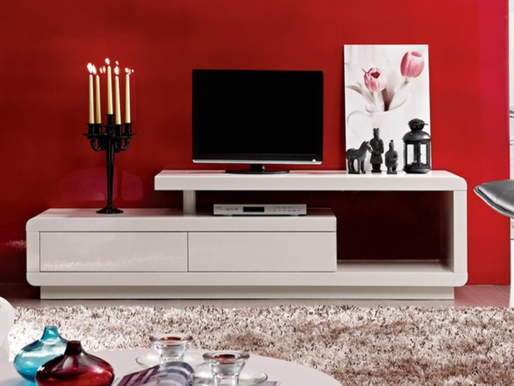 1000 ideas about meuble tv led on pinterest meuble for Meuble tv mural egizia a led laque noir