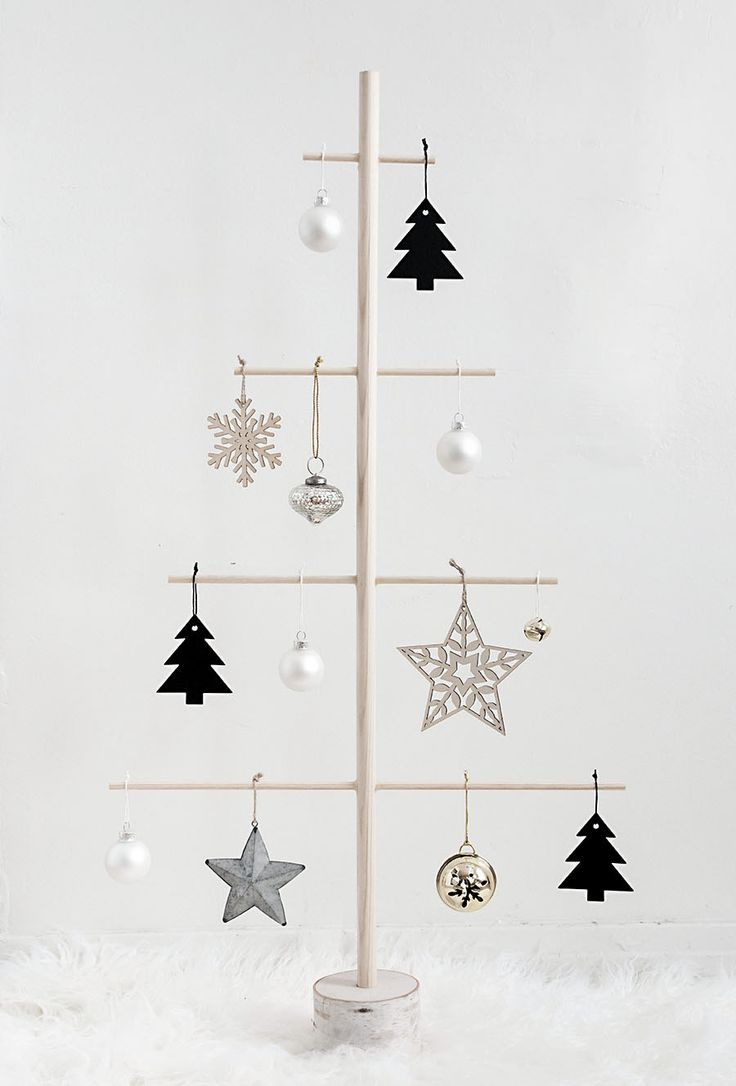 DIY Modern Wooden Christmas Tree alternative Tutorial