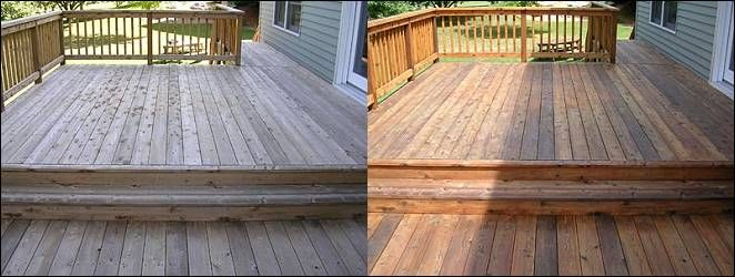 Deluxe Deck Refinishing Before And After