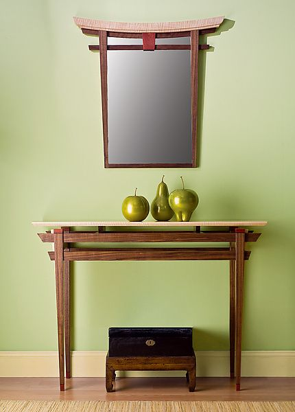 Torii Mirror and Table by Bayley Wharton