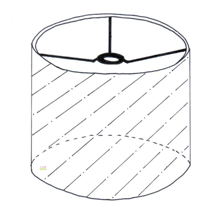 This Includes The Frame And Covering Of A Hanging Drum Lampshade 330mm In  Diameter X 280mm