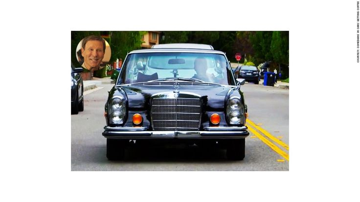 """Comedian: Bob Einstein Car: 1970 Mercedes 300 SEL 6.3 Color: Black Engine: 300 HP - V8 The Mercedes 300 SEL was developed by engineer Erich Waxenberger. Seinfeld says, """"he was the first guy to take a really big engine and stuff it into a regular four-door sedan to make a gentleman's super-car."""""""