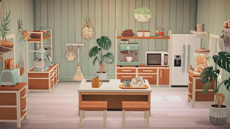 finally finished my kitchen : AnimalCrossing in 2020 ... on Ironwood Kitchen Animal Crossing  id=38671
