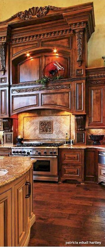 Spectacular Old World Style Kitchen