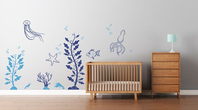 Under the Sea Decals contemporary-wall-decals