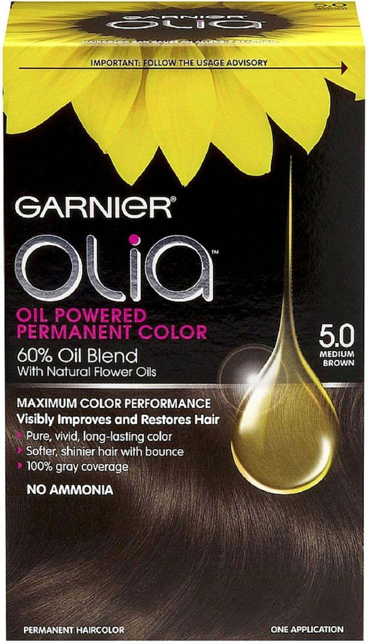 garnier olia oil powered permanent color medium brown 50 1 ea pack - Coloration Olia Blond