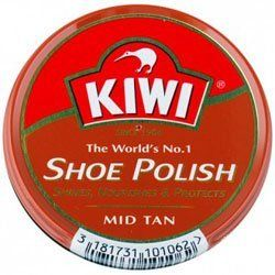 Kiwi Mid-Tan Shoe Polish, 1 - 1/8 oz Kiwi. $2.99