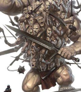 centímanos ou hecatônquiros — os de centenas de mãos — eram três gigantes da mitologia grega, filhos de Urano e Gaia e irmãos dos doze Titãs e dos ciclopes. Cada centímano apresenta cem mãos e cinquenta cabeças. São Briareu — o vigoroso; Coto — o furioso; e Giges — o de grandes membros. Após seu nascimento, Urano, horrorizado com o quão monstruosos eram, os esconderam no Tártaro, mas Cronos os ajudou a escapar, apenas para que o titã conseguisse matar o pai.