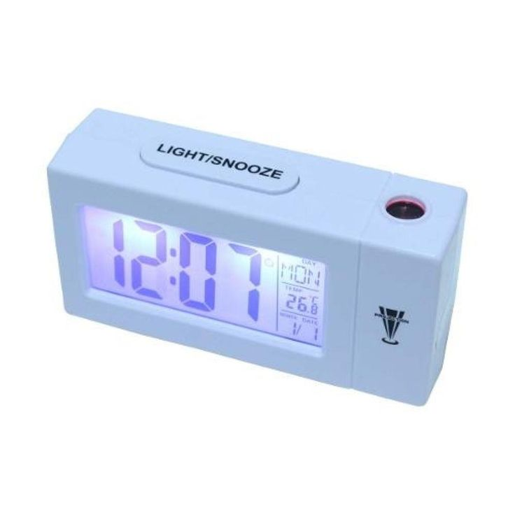 Relogio Despertador Com Projetor De Horas Termometro Calendario Com Luz De Fundo Atima - Despertadores e Rádio Relógio  no CasasBahia.com.br