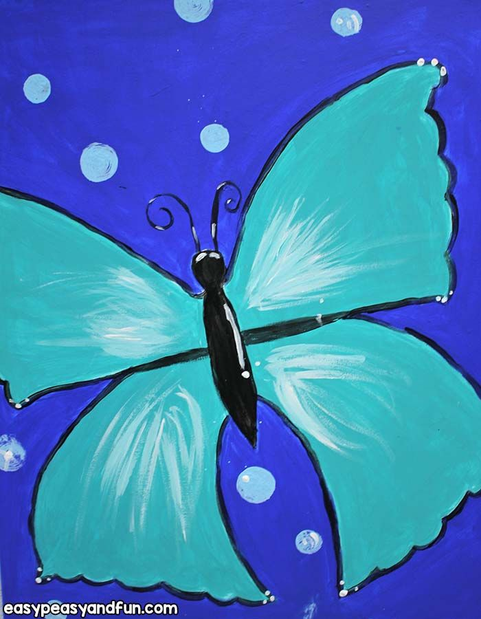 How To Paint A Butterfly Acrylic Painting For Beginners Kids