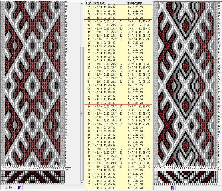 Two opposite threadings, same movements . 32 tarjetas hexagonales, 5 colores, repite cada 24 movimientos // sed_601_c6 & sed_601_c6a diseñado en GTT༺❁