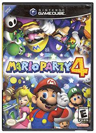 Multi-player pandemonium hits NINTENDO GAMECUBE with Mario Party 4, which includes 50 all-new mini-games and multiple fully rendered 3-D game boards. Nintendo's favorite bunch of characters is back; Koopa, Toad and the others have prepared many maps inside the Party Cube. By rolling the virtual dice and advancing through mini-game trickery, you'll play for the hidden stars.