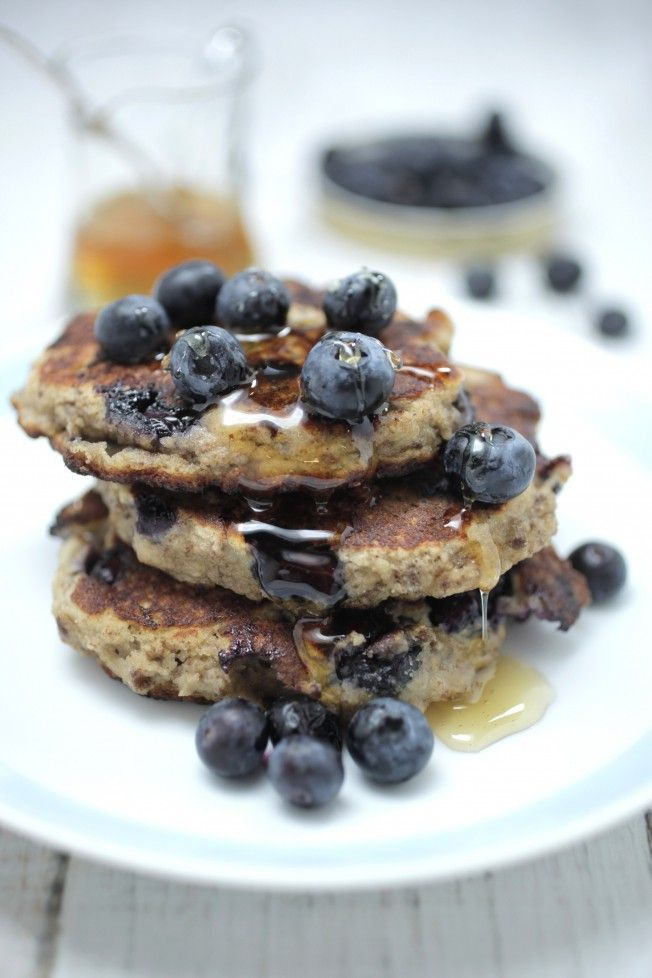 Blueberry, Chia + Banana Pancakes