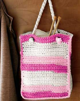 This sweet and simple crochet bag is ideal for your books, lunch, knitting supplies, and everything else! Approx. 9