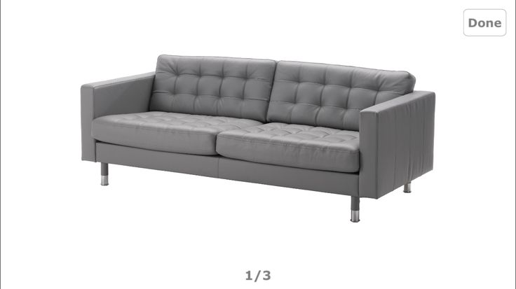 IKEA Grey Leather Sofa