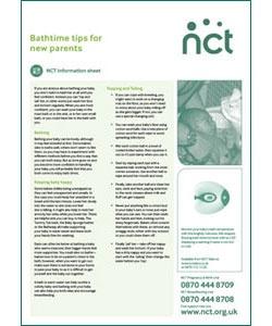 Bathtime tips x 50 - Information Sheet-NCT Shop