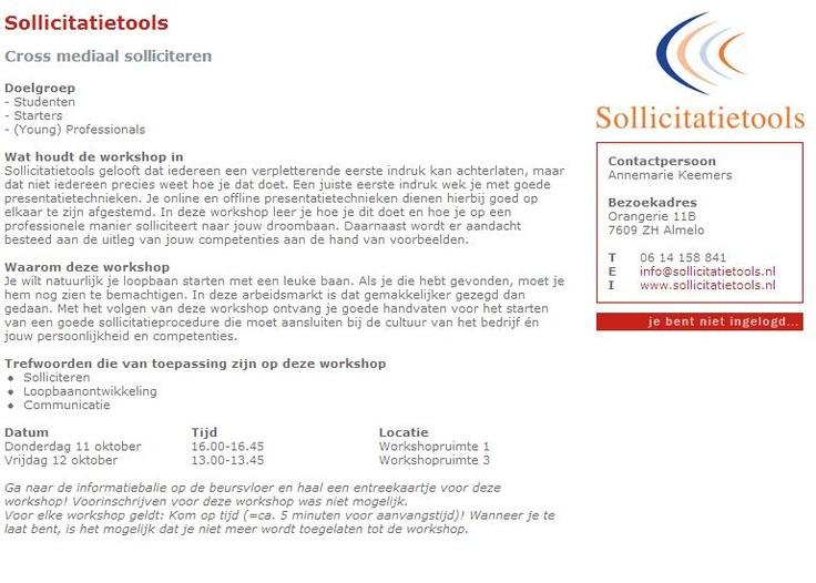 Workshop Cross mediaal Solliciteren Utrecht