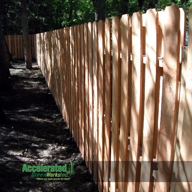 6 0 Quot Cedar Semi Privacy Fence With Dog Eared Pickets And