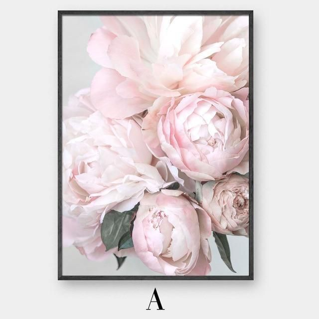 Free Us Shipping Our Blush Pink Peonies Canvas Print Is Vibrant And Guaranteed To Add A Burst Of Energy To Any Room Flower Wall Art Canvas Poster Flower Wall