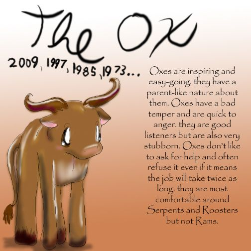 Zodiac The Ox by Dei--dara on deviantART