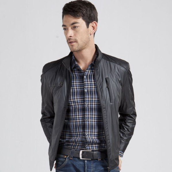 Business-Casual for men leather jacket
