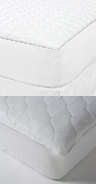 Bed And Bath 48758 1 New Twin Xl White Fitted Quilted Mattress Pad