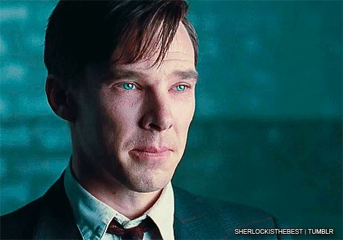 Wow, even the tiny little bit in this gif shows incredible acting! Can't wait to see this movie! The Imitation Game.