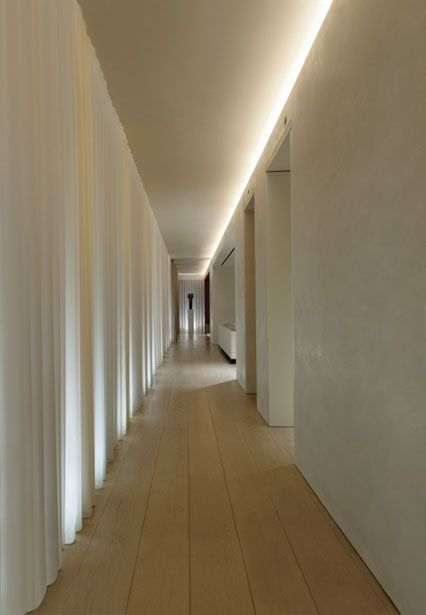 Indirect lighting (Charlotte Minty Interior Design: Ian Schrager's Penthouse at 40 Bond, NYC)