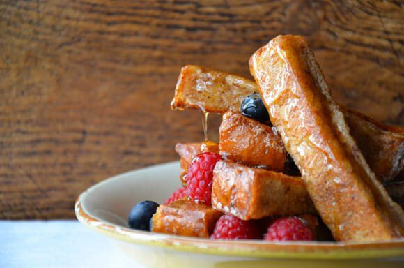 Easy Cinnamon French Toast Sticks | http://www.justataste.com/2014/01/easy-cinnamon-french-toast-sticks-recipe/