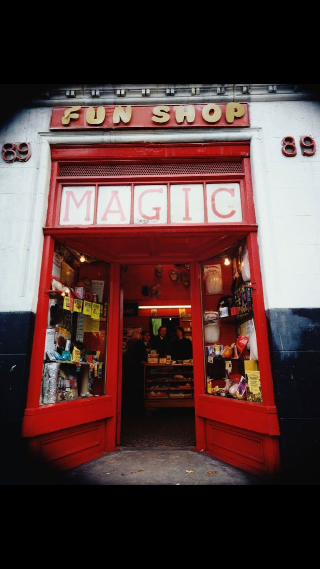 Magic shop Clerkenwell Road 1975 Taken from shutting up shop