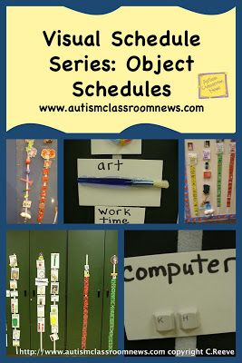 Visual Schedule Series: Object Schedules by Autism Classroom News: http://www.autismclassroomnews.com Repinned by SOS Inc. Resources. Follow all our boards at pinterest.com/sostherapy for therapy resources.